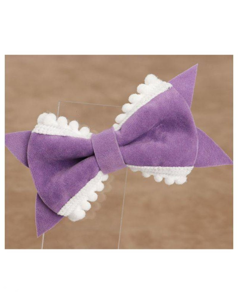 Baby Kiss 2-Pack Delicate Bow- Purple