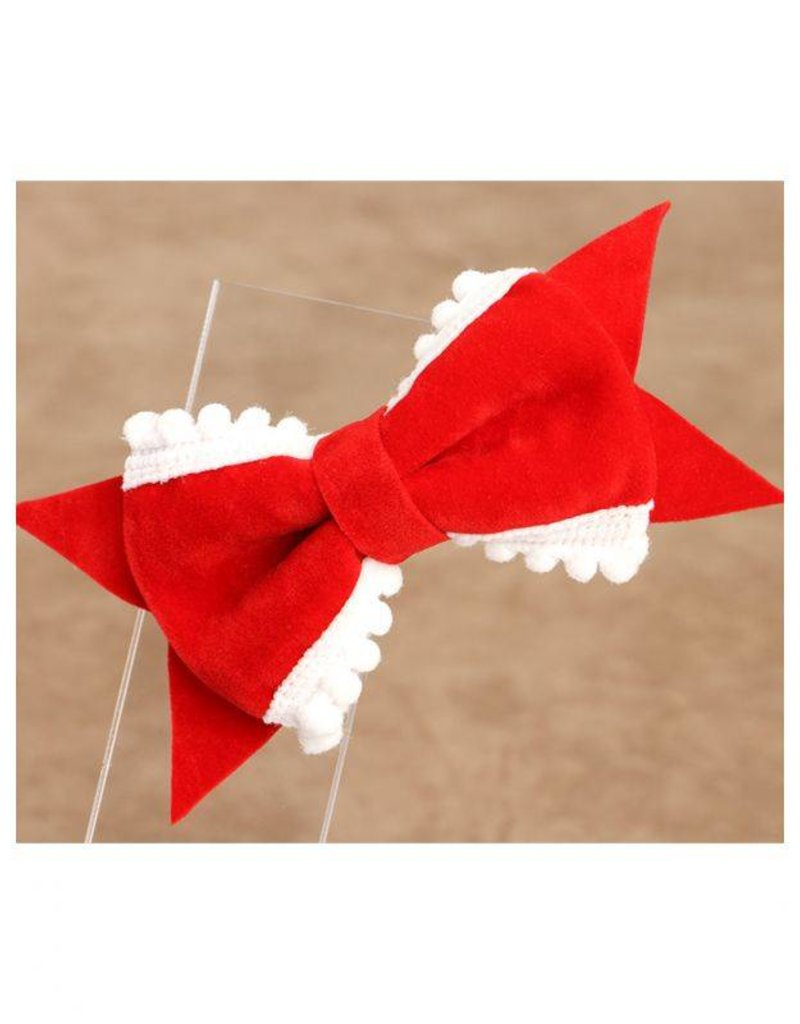 Baby Kiss 2-Pack Delicate Bow- Red
