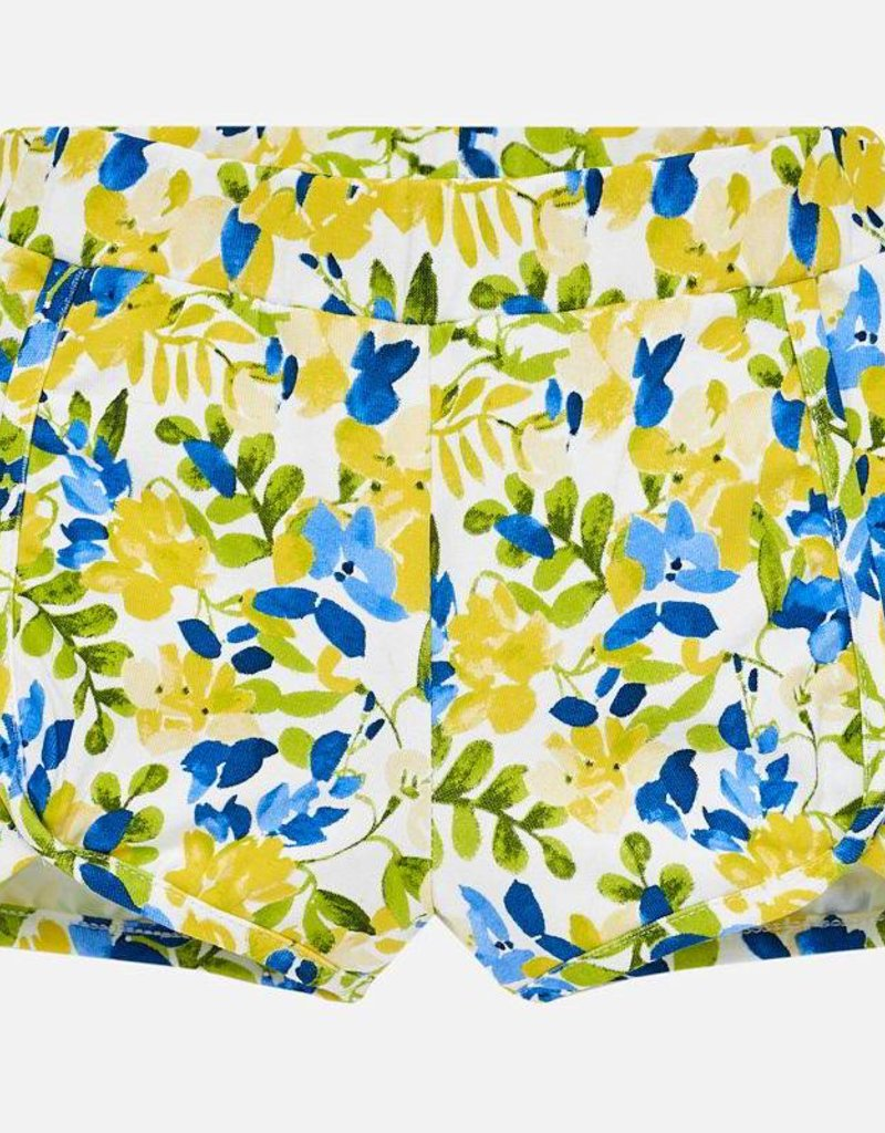 Mayoral Mayoral Floral Yellow and Navy Shorts
