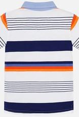 Mayoral Mayoral Orange & Navy Stripe Polo