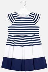 Mayoral Mayoral Navy Striped Dress