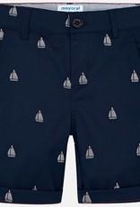 Mayoral Mayoral Jaquard Chino Sailboat Shorts