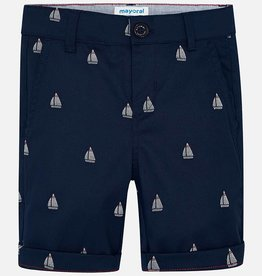 Mayoral Mayoral Jaquard Chino Sailboat Shorts