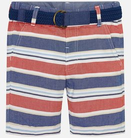 Mayoral Mayoral Red & Blue Striped Oxford Shorts