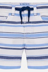 Mayoral Mayoral Striped Blues Bermuda Shorts
