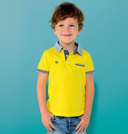 Mayoral Mayoral Yellow Polo with Accent Collar