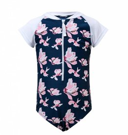 Snapper Rock Navy Orchid SS Sunsuit
