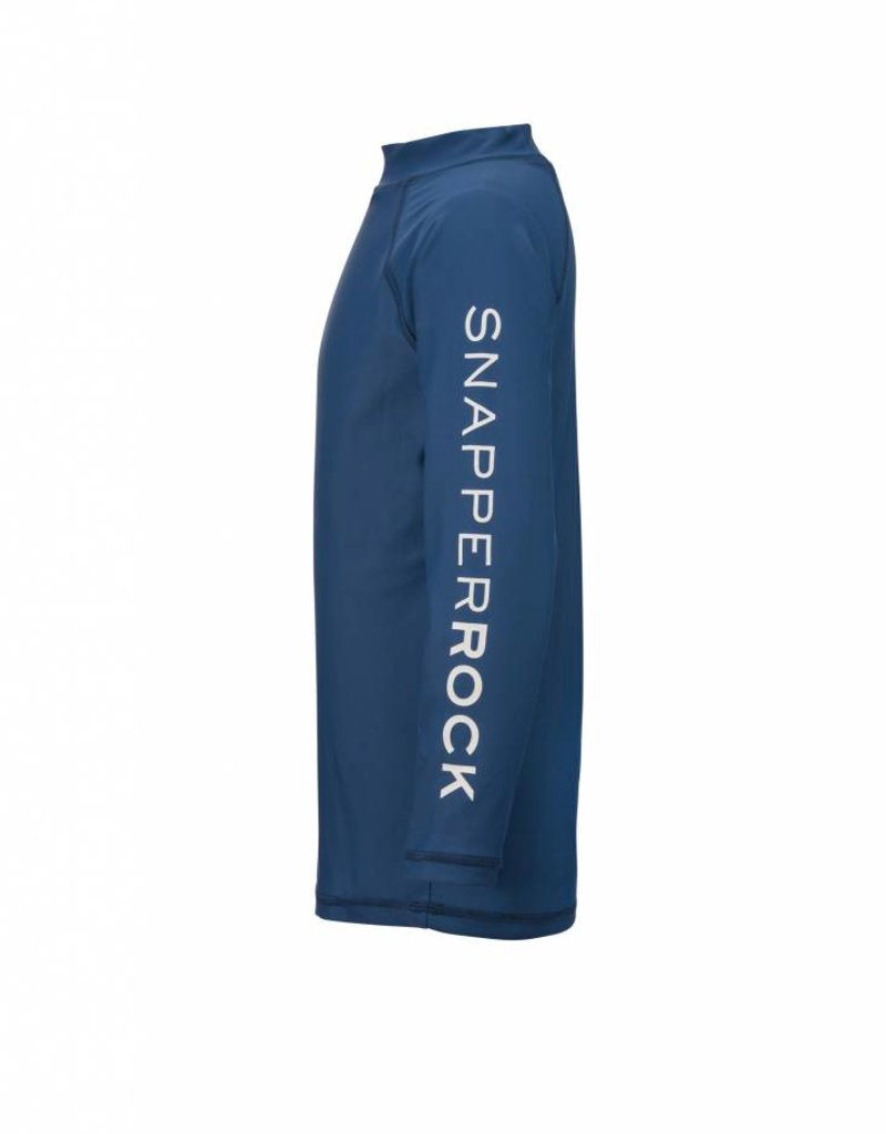 Snapper Rock Denim Blue LS Rash Top