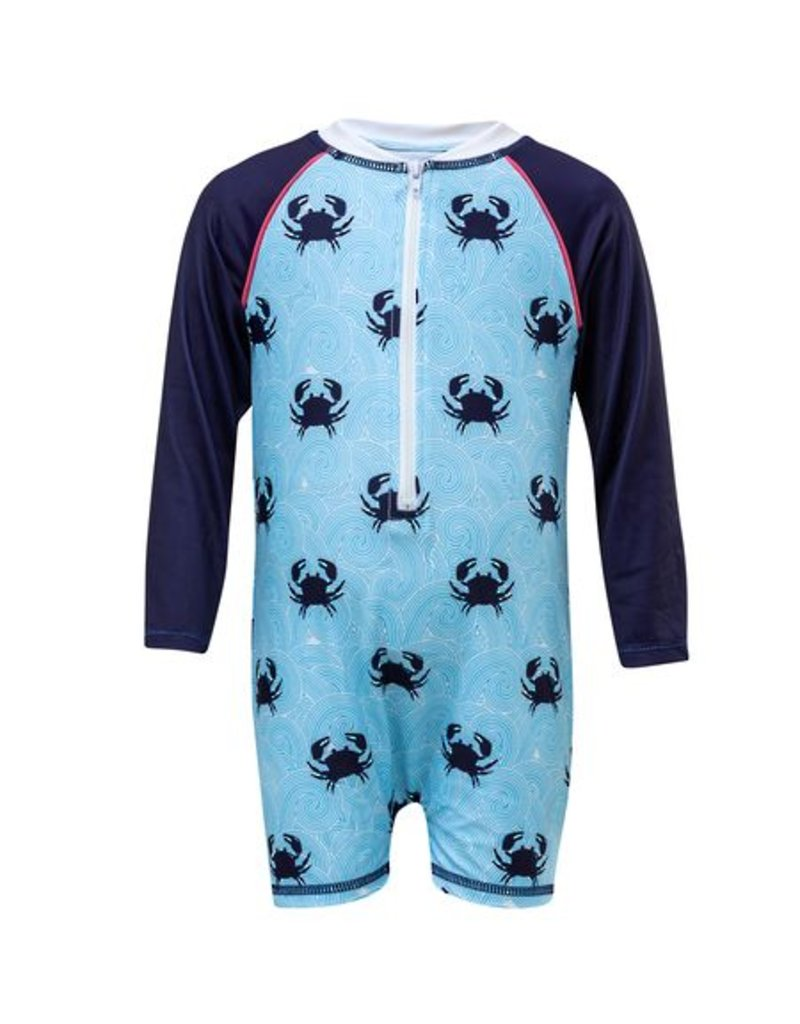 Snapper Rock Blue Crab LS Sunsuit