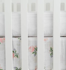 Little Unicorn Little Unicorn Cotton Muslin Crib Skirt- Watercolor Roses