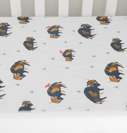 Little Unicorn Little Unicorn Cotton Muslin Crib Sheet- Bison