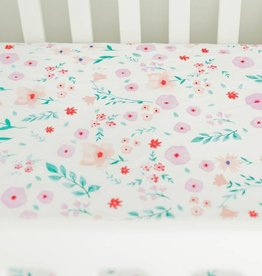 Little Unicorn Little Unicorn Cotton Percale Crib Sheet- Morning Glory