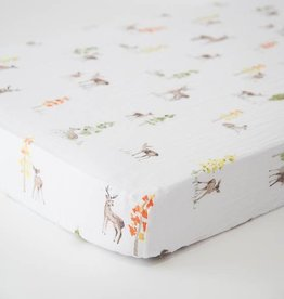 Little Unicorn Little Unicorn Cotton Muslin Crib Sheet- Oh Deer