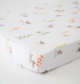 Little Unicorn Little Unicorn Cotton Muslin Crib Sheet- Oh Deer