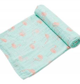 Angel Dear Angel Dear Bamboo Swaddle Blanket- Flamingo