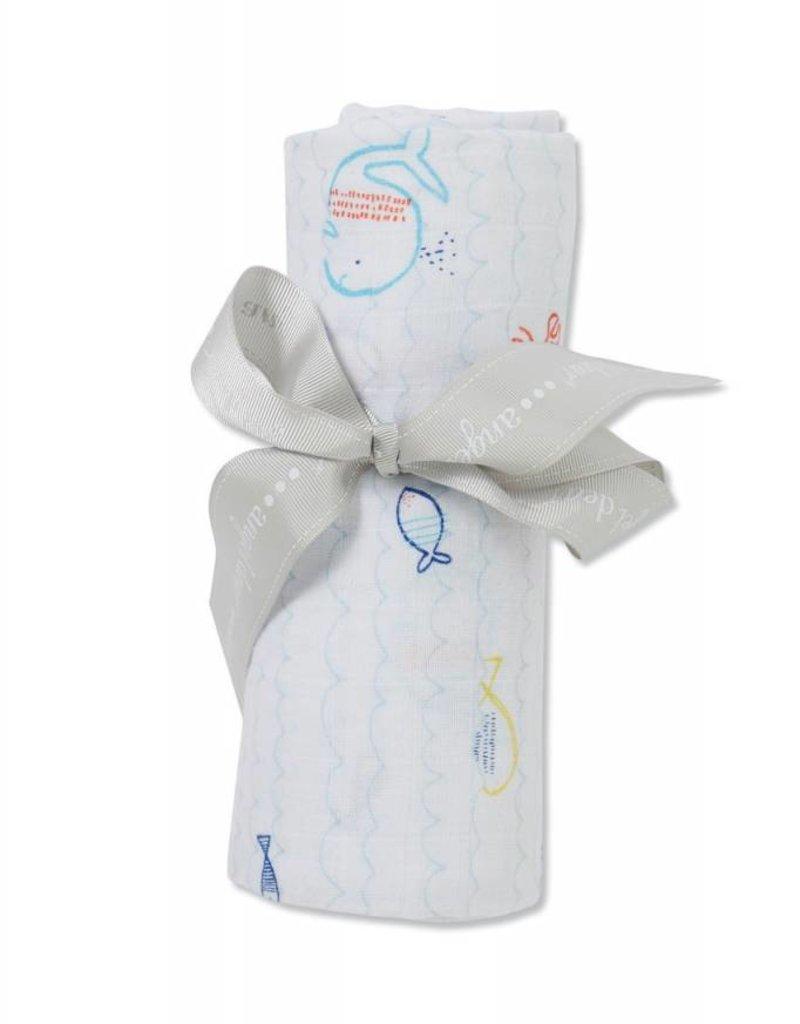 Angel Dear Angel Dear Bamboo Swaddle Blanket- Little Fishies