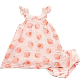 Angel Dear Angel Dear Peachy Muslin Sundress & Bloomer
