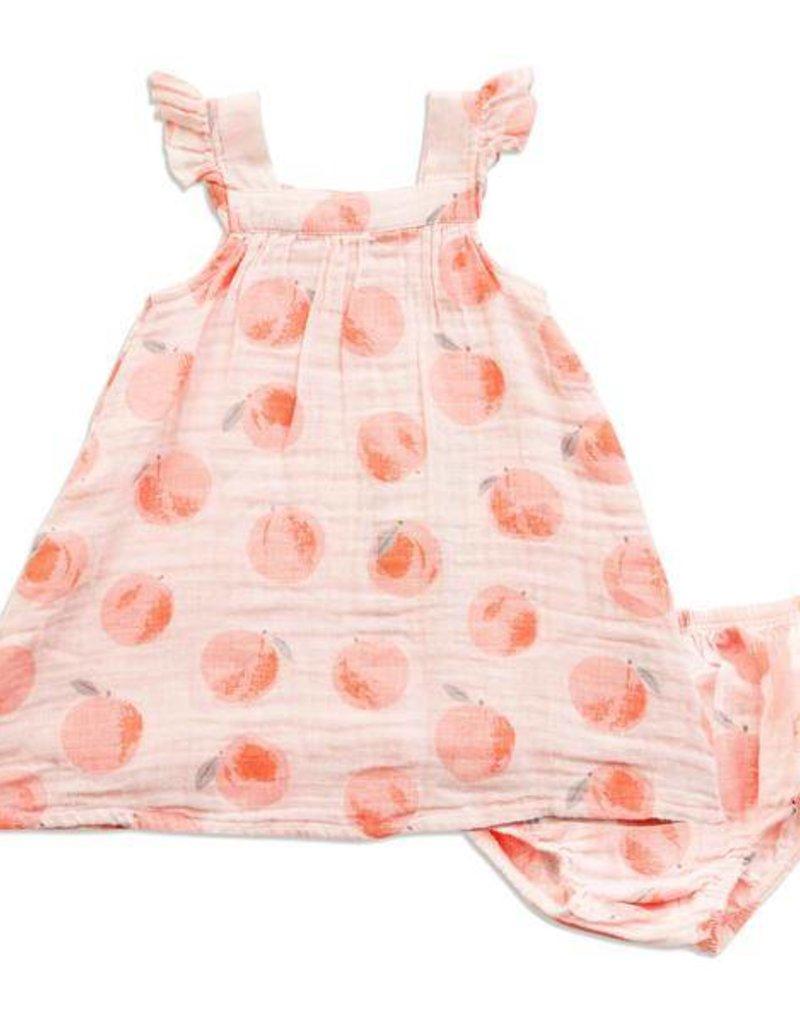 Angel Dear Angel Dear Peachy Muslin Sundress & Bloomer