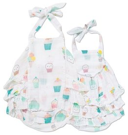 Angel Dear Angel Dear Sprinkles Muslin Ruffled Sunsuit