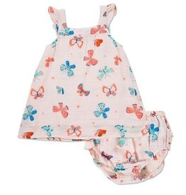 Angel Dear Angel Dear Butterflies Muslin Sundress & Bloomer