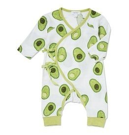 Angel Dear Angel Dear Avacado Muslin Coverall