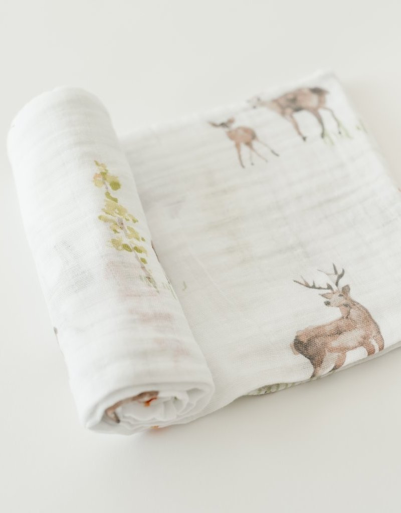 Little Unicorn Little Unicorn Cotton Muslin Swaddle- Oh Dear