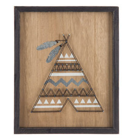 Teepee String Art Wood Wall Decor