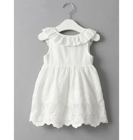 Baby Kiss Cross Back White Princess Dress