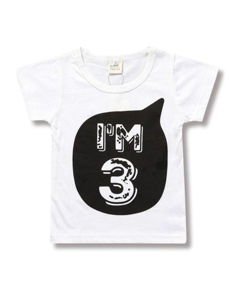 """Baby Kiss """"I'm 3"""" Kids Tee"""