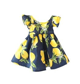 Baby Kiss Navy Citrus Sundress