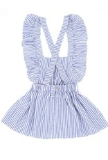 Baby Kiss Light Blue Striped Flutter Tank Dress