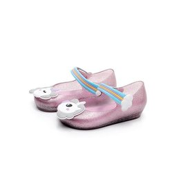 Baby Kiss Unicorn Jelly Slip On Mary Jane Shoes