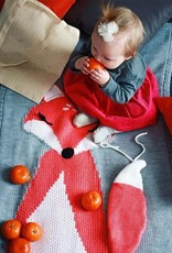 Baby Kiss Knitted Grey Fox Blanket