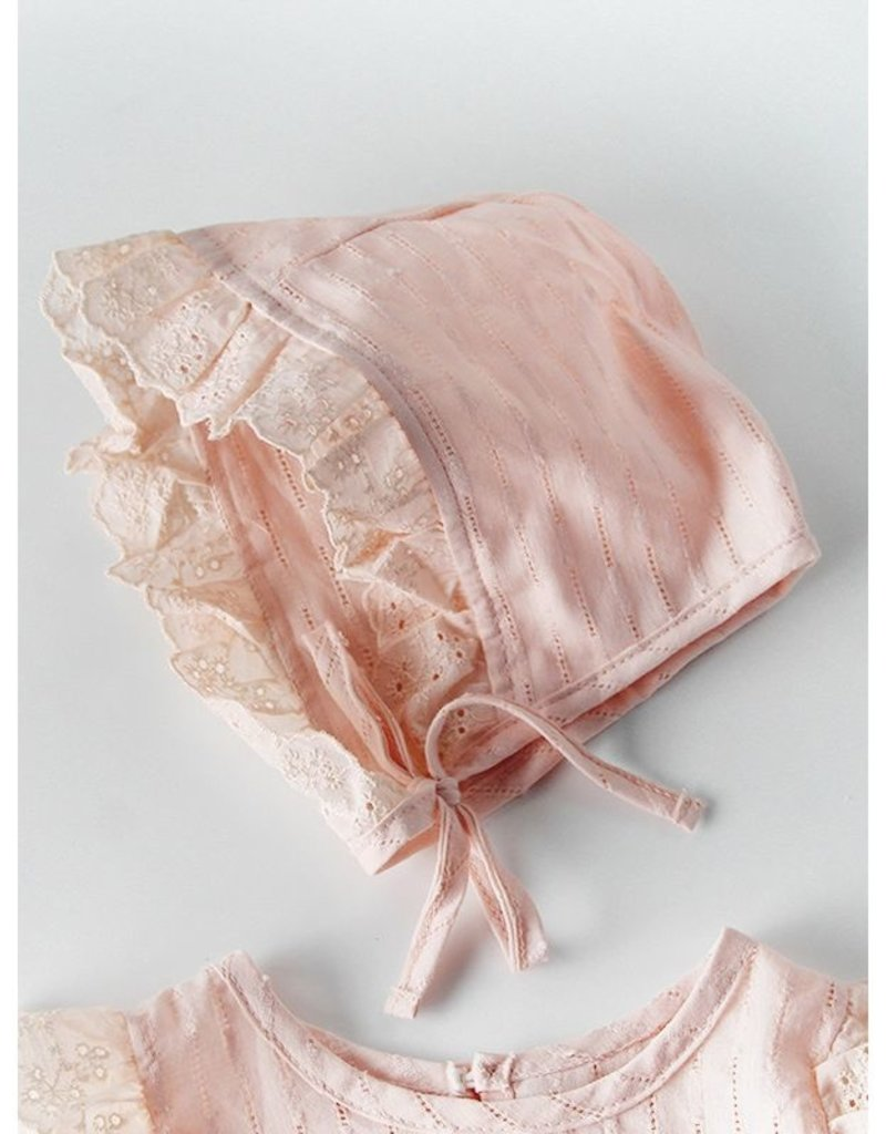 Baby Kiss Flutter Sleeve Romper and Bonnet Set