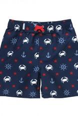 RuffleButts/RuggedButts Crabby Sailor Swim Trunks