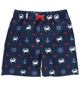 RuffleButts/RuggedButts Crabby Sailor Swim Trunks