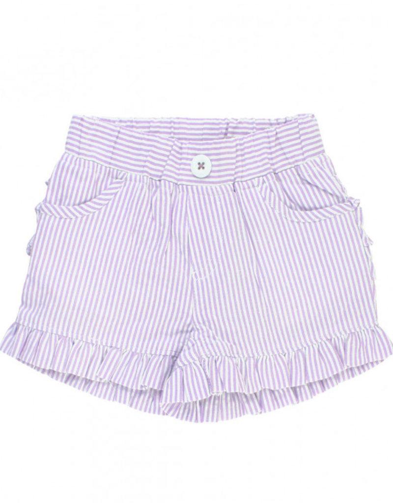 RuffleButts/RuggedButts Rufflebutts Lilac Ruffle Shorts