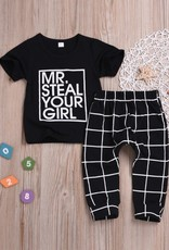 Baby Kiss Mr. Steal Your Girl Top & Pants Set