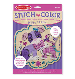 Melissa and Doug Stitch By Color- Puppy & Kitten