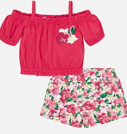 Mayoral Mayoral Cropped Top & Floral Shorts Set