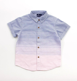 Bear Camp Fashion Navy & Pink Ombre Button Down
