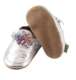 Robeez Silver Unicorn Soft Sole Shoes