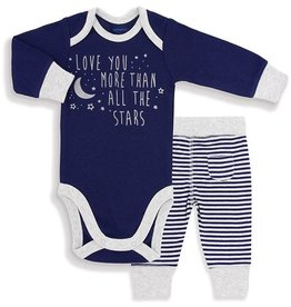 Kelli's Gifts Love you More than the Stars Onesie & Pant Set