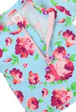 RuffleButts/RuggedButts Life is Rosy Long Sleve Rash Guard Bikini