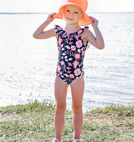 RuffleButts Botanical Beach One Piece Swim Suit