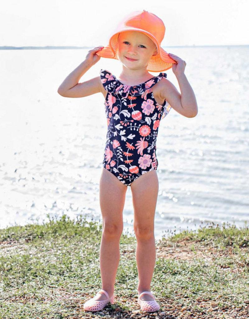 RuffleButts Botanical Beach One Piece Swim Suit