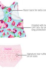 RuffleButts Life is Rosy Peplum Tankini