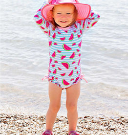 RuffleButts/RuggedButts Whimsy Watermelon One Piece Rashguard