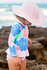 RuffleButts/RuggedButts Pink Seersucker Swim Hat