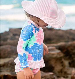 RuffleButts/RuggedButts Pink Seersucker Swim Hat